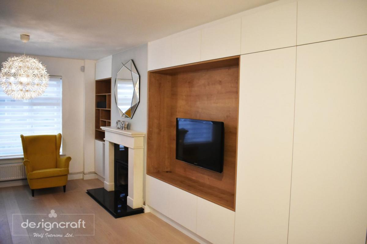 Alcove units, Bookcases & TV units.Made to measure cabinets.